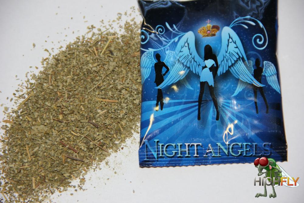 Night Angels Räuchermischung Inhalt und Verpackung